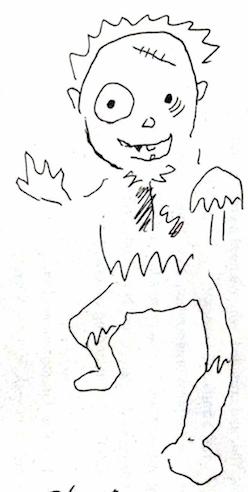 ゾンビ化したキャラクター
